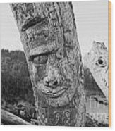 Face In The Drift Wood Print