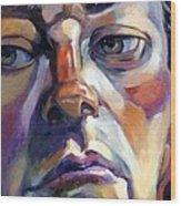 Face Of A Man Wood Print
