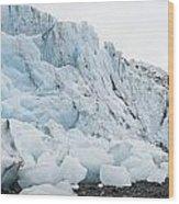 Face Of Bryn Mawr Glacier Wood Print