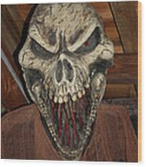 Face Of Death Wood Print