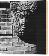 Face Of Stone Wood Print