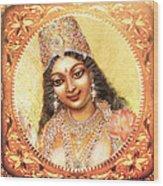Face Of The Goddess - Lalitha Devi  Wood Print