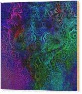 Face Mandelbulb Fractal Wood Print