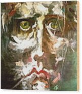 Face Series 2 Wood Print by Michelle Dommer