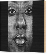 Face To Face - Crown Fountain Chicago Wood Print by Christine Till