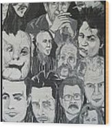 faces of Gary Oldman Wood Print