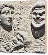 Faces Of Pompeii Wood Print