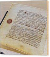 Facsimile Of A 13th Century Koran Wood Print