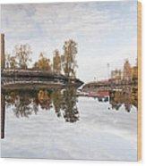 Factory In Helsinki Wood Print