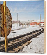 Factory Railroad Wood Print