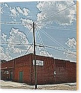 Factory Store Wood Print by Beverly Hammond