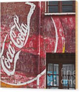 Faded Coca Cola Mural 1 Wood Print