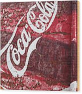 Faded Coca Cola Mural 2 Wood Print