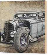 Faded Ford Coupe Wood Print