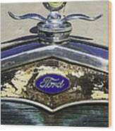 Faded Ford Wood Print