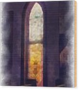 Faded Purple Stained Glass Window Photo Art Wood Print