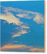 Fading Clouds Wood Print