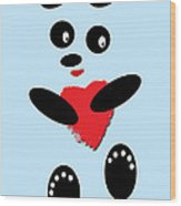 Fading Like A Flower. Panda In Love. 02 Wood Print