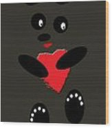 Fading Like A Flower. Panda In The Night Wood Print