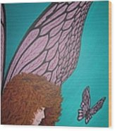 Faerie And Butterfly Wood Print