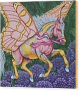 Faery Horse Hope Wood Print by Beth Clark-McDonal