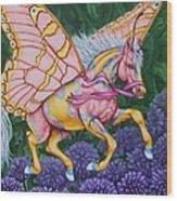 Faery Horse Hope Wood Print