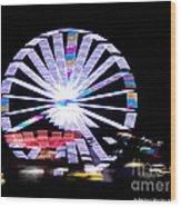 Fair Night Ferris Wood Print