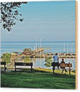 Fairhope Alabama Pier Wood Print