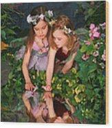 Fairies And Dragonflies Wood Print