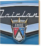 Fairlane Name Plate Wood Print