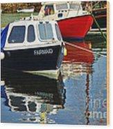 Fairmaid At Mousehole Harbour Wood Print