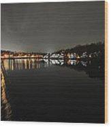 Fairmount Dam And Boathouse Row In The Evening Wood Print