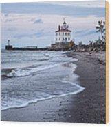 Fairport Harbor Breakwater Lighthouse Wood Print