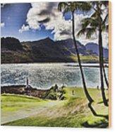 Fairway In Paradise Wood Print