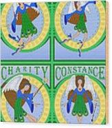 Fairy Angels Wood Print