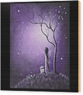 Fairy Art By Shawna Erback Wood Print by Shawna Erback
