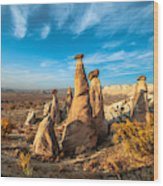 Fairy Chimneys In Cappadocia Wood Print