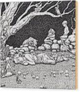 Fairy Circle Wood Print