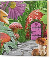 Fairy Garden Wood Print