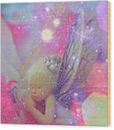 Fairy In Fairy Dust Wood Print