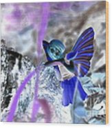 Fairy In The Woods Surreal Wood Print