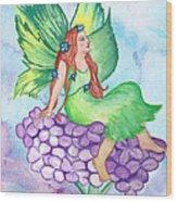Fairy On Lilac Wood Print