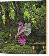 Fairy Princess Wood Print