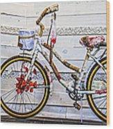 Fairy Tale Bike Flying Machine Wood Print