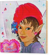 Fairy Valentine Wood Print