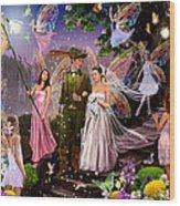 Fairy Wedding Wood Print