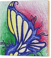 Fairy Wing Wood Print