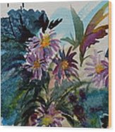 Fairyland Asters Wood Print