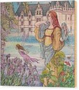 Fairytale Nocturne Castle Wood Print