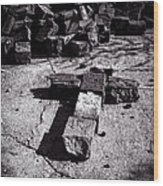 Faith Among The Ruins Wood Print